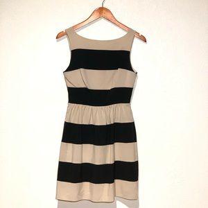 Black & Cream Striped Dress